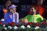Maria Sharapova and Grigos Dimitrov during the match of the Charity day previus at Madrid Open Tenis 2017in  Madrid, Spain. May 04, 2017. (ALTERPHOTOS/Rodrigo Jimenez) /NORTEPHOTO.COM
