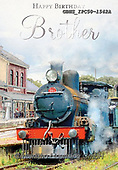 John, MASCULIN, MÄNNLICH, MASCULINO, paintings+++++,GBHSIPC50-1542A,#m#, EVERYDAY ,locomotive,steam locomotive,