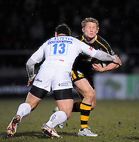 Wycombe, GREAT BRITAIN, Sales' Luke McALISTER tackle's, Josh LEWSEY, during the Guinness Premiership game, London Wasps vs Sale Sharks 15.04.2008 [Mandatory Credit Peter Spurrier/Intersport Images]