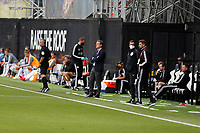 4th July 2020; Craven Cottage, London, England; English Championship Football, Fulham versus Birmingham City; Fulham Manager Scott Parker looks on from the touchline