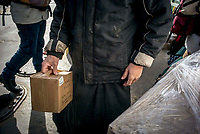 Mount Athos - The Holy Mountain.<br /> A monk collects post.<br /> <br /> Photographer: Rick Findler