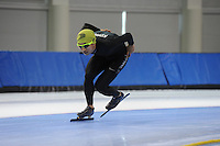 SCHAATSEN: SALT LAKE CITY: Utah Olympic Oval, 12-11-2013, Essent ISU World Cup, training, Kyou-Hyuk Lee (KOR), ©foto Martin de Jong