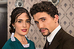 """Yara Puebla and Jaime Lorente during the presentation of the new characters for the new season of the tv series """"El Secreto de Puente Viejo""""  in Madrid, February 10, Madrid."""