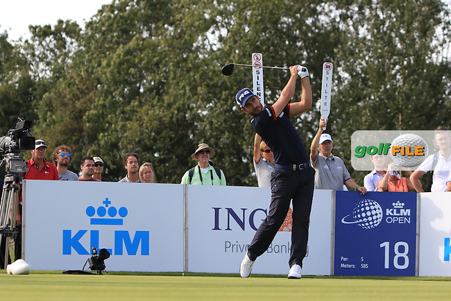 Alejandro Canizares (ESP) on the 18th tee during Round 3 of the 2016 KLM Open at the Dutch Golf Club at Spijk in The Netherlands on  Saturday 10/09/16.<br /> Picture: Thos Caffrey | Golffile