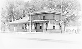 D&amp;RGW La Jara depot.<br /> D&amp;RGW  La Jara, CO  ca. 1950