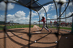 FT. MYERS, FL - FEBRUARY  22:  Jackie Bradley Jr. #25 of the Boston Red Sox takes batting practice during a Spring Training workout at Fenway South on February 22, 2014 in  Fort Myers, Florida. (Photo by Michael Ivins/Boston Red Sox/Getty Images) *** Local Caption *** Jackie Bradley Jr.