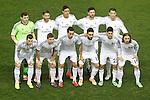 Real Madrid's team photo with Iker Casillas, Sergio Ramos, Raphael Varane, Xabi Alonso, Cristiano Ronaldo, Garet Bale, Asier Illarramendi, Alvaro Arbeloa, Daniel Carvajal, Isco and Luka Modric during La Copa match.February 11,2014. (ALTERPHOTOS/Acero)