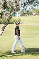 Lee Slattery (ENG) on the 9th, round 2 of the Portugal Masters, Dom Pedro Victoria Golf Course, Vilamoura, Vilamoura, Portugal. 25/10/2019<br /> Picture Andy Crook / Golffile.ie<br /> <br /> All photo usage must carry mandatory copyright credit (© Golffile | Andy Crook)