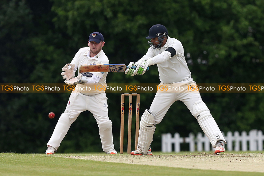H Mahmood in batting action for Shenfield during Shenfield CC vs Hornchurch CC, Shepherd Neame Essex League Cricket at Chelmsford Road on 13th May 2017