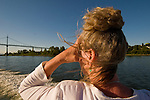 Woman Enjoying the Scenery from a Boat