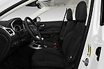 Front seat view of a 2017 Jeep Compass Sport 2wd 5 Door SUV front seat car photos