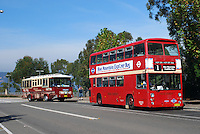London double-decker bus look-alikes pop up in the strangest places! This one transports visitors to the Blue Mountains, New South Wales, a major Australian tourist attraction. The bus in the picture was probably one used originally by a UK municipal authority. 201003274901.<br />