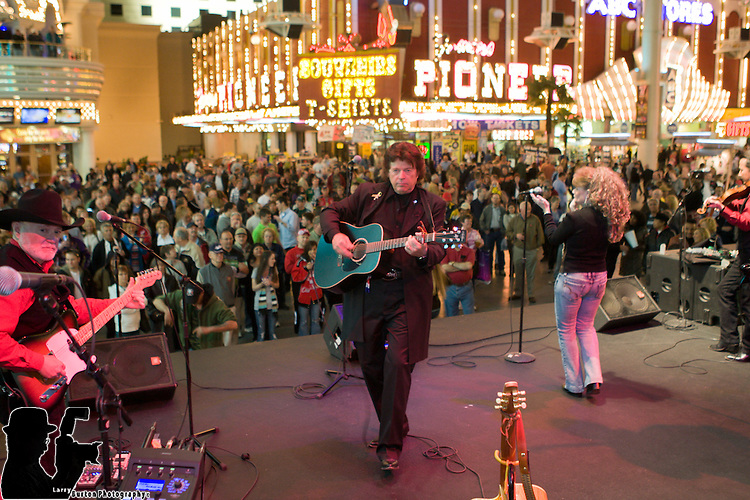 """Jimmie Rae's Johnny Cash Tribute, a dynamic, charismatic performance that incorporates music from all six decades of Johnny Cash's career including some of his last songs such as """"Hurt"""" and """"Like the 309."""" The band brings a wide range of music including old vintage country, a touch of gospel, blues and rock to Fremont Street Experience."""