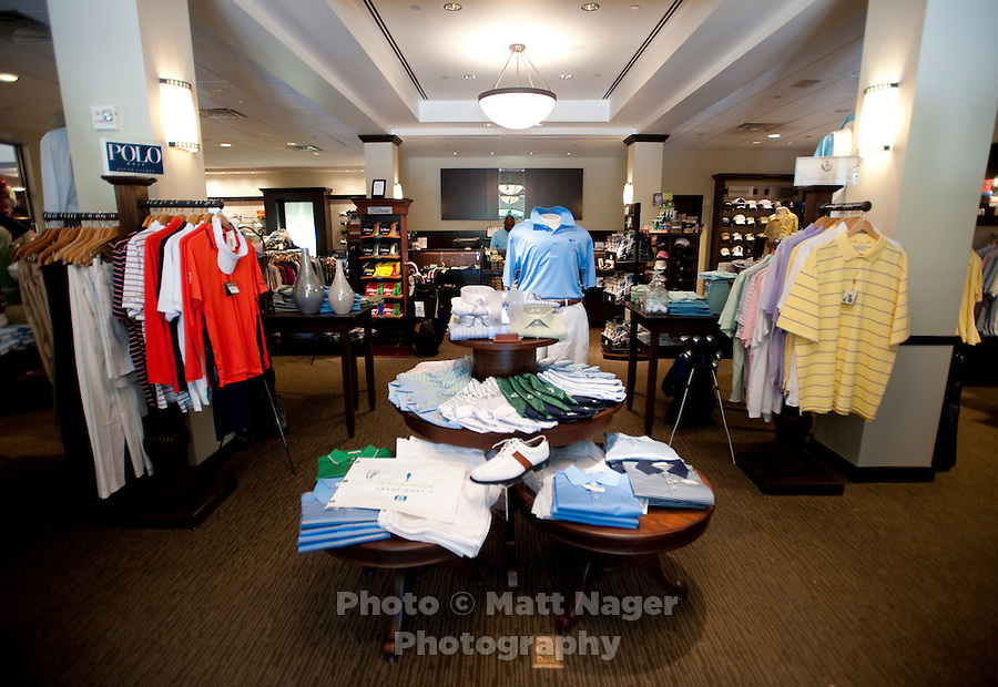 The golf pro shop at the Four Seasons Resort and Spa in Irving, Texas, Sunday, May 2, 2010. Four Seasons couldn't abstain from cost cutting in this downturn as it had in previous recessions because the worst hotel market in decades left the company last year with a 26% decline in revenue per available room in the U.S. Similarly, its occupancy fell to 57% from its usual perch above 70%...CREDIT: Matt Nager for The Wall Street Journal