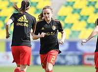 20190227 - LARNACA , CYPRUS :  Belgian Davina Philtjens pictured during a women's soccer game between the Belgian Red Flames and Slovakia , on Wednesday 27 February 2019 at the AEK Arena in Larnaca , Cyprus . This is the first game in group C for Belgium during the Cyprus Womens Cup 2019 , a prestigious women soccer tournament as a preparation on the Uefa Women's Euro 2021 qualification duels. PHOTO SPORTPIX.BE | DAVID CATRY