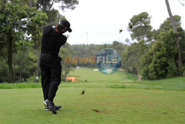 Pablo Larrazabal (ESP) in action on the 14th tee during Day 3 of the Open de Espana at Real Club De Golf El Prat, Terrasa, Barcelona, 7th May 2011. (Photo Eoin Clarke/Golffile 2011)
