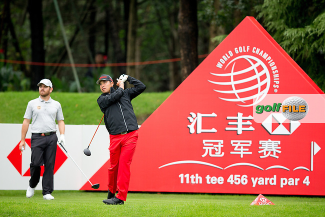 Hideki Matsuyama (JPN) on the 11th during round 1 of the WGC-HSBC Champions, Sheshan International GC, Shanghai, China PR.  27/10/2016<br /> Picture: Golffile | Fran Caffrey<br /> <br /> <br /> All photo usage must carry mandatory copyright credit (&copy; Golffile | Fran Caffrey)