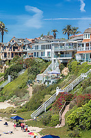 Corona Del Mar, Beach, Luxury Houses, Southern California, on the Pacific coast of the United States