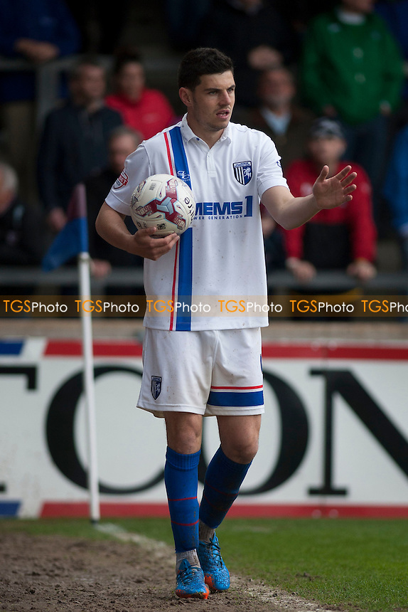 John Egan of Gillingham<br />  - Scunthorpe United vs Gillingham - Sky Bet League One Football at Glanford Park, Scunthorpe, Lincolnshire - 25/04/15 - MANDATORY CREDIT: Mark Hodsman/TGSPHOTO - Self billing applies where appropriate - contact@tgsphoto.co.uk - NO UNPAID USE