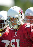 Jul 30, 2008; Flagstaff, AZ, USA; Arizona Cardinals linebacker Matt Stewart during training camp on the campus of Northern Arizona University. Mandatory Credit: Mark J. Rebilas-