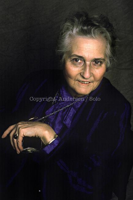 Francoise Dolto, French pedopsychiatrist in 1988.