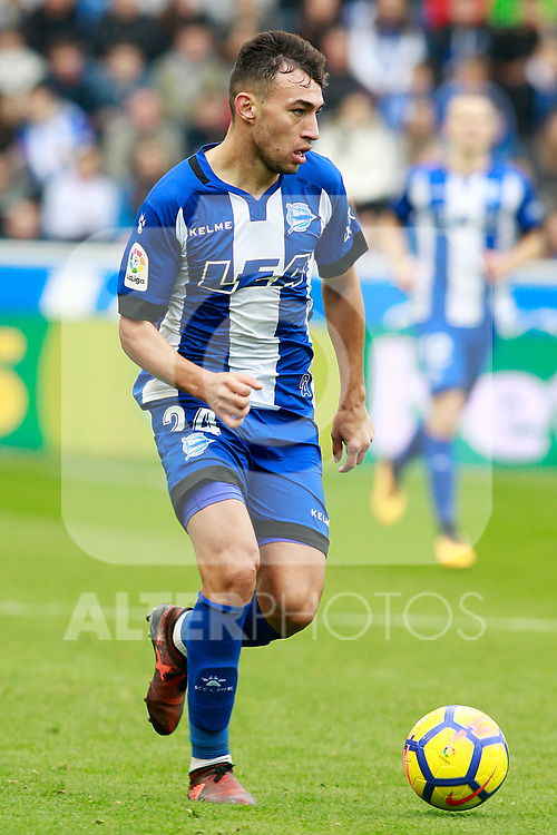 Deportivo Alaves' Munir El Haddadi during La Liga match. October 28,2017. (ALTERPHOTOS/Acero)