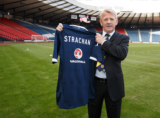 Gordon Strachan is appointed as the new Scotland manager at Hampden.