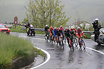 """The breakaway group with a 4"""" advantage climb over the Appenines and into Tuscany during a wet Stage 2 of the 2019 Giro d'Italia, running 205km from Bologna to Fucecchio, Italy. 12th May 2019.<br /> Picture: Eoin Clarke 