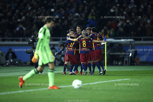 Barcelona team group, DECEMBER 20, 2015 - Football / Soccer : Luis Suarez of Barcelona celebrates after scoring their 3rd goal during the FIFA Club World Cup Japan 2015 Final match between River Plate 0-3 FC Barcelona at International Stadium Yokohama in Kanagawa, Japan. (Photo by Koji Aoki/AFLO SPORT)