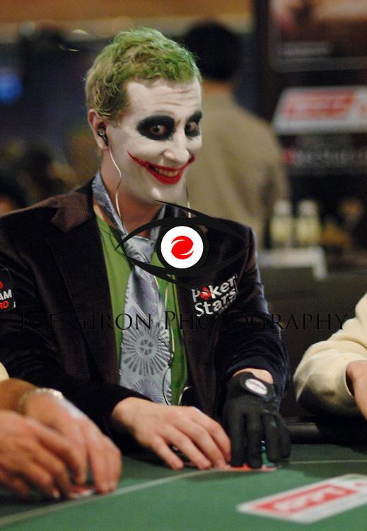 "Bertrand ""ElkY"" Grospellier dressed as the Joker."