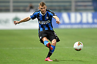 Nicolo Barella of FC Internazionale in action during the Serie A football match between Parma and FC Internazionale at stadio Ennio Tardini in Parma ( Italy ), June 28th, 2020. Play resumes behind closed doors following the outbreak of the coronavirus disease. <br /> Photo Andrea Staccioli / Insidefoto