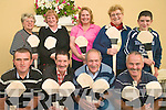 Kilgarvan Junior hurling team with their new hurleys thanks to Kilgarvan Show committee who donated funds to the club to purchase new equipment .Back L-R May Godfrey, Helen O' Sullivan, Liz Kelleher, Maureen Callaghan, Martin Godfrey.Front L-R are Austin Godfrey, John Egan, John Paul Harrington and James Harrington