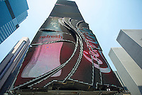 Coca-Cola billboard seen in Times Square, in New York on Friday, June 21, 2013. (© Frances M. Roberts)