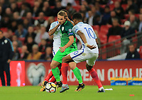 Slovenia Rajko Rotman wins the ball against England Marcus Rashford during the FIFA World Cup 2018 Qualifying Group F match between England and Slovenia at Wembley Stadium on October 5th 2017 in London, England. <br /> Calcio Inghilterra - Slovenia Qualificazioni Mondiali <br /> Foto Phcimages/Panoramic/insidefoto
