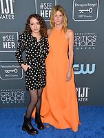 SANTA MONICA, USA. January 12, 2020: Laura Dern & Jaya Harper at the 25th Annual Critics' Choice Awards at the Barker Hangar, Santa Monica.<br /> Picture: Paul Smith/Featureflash