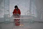 Chapel in Ice Hotel near Duchesnay