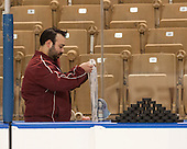 Nick Meldrum (DU - Manager) - The Boston College Eagles defeated the University of Denver Pioneers 6-2 in their NCAA Northeast Regional semi-final on Saturday, March 29, 2014, at the DCU Center in Worcester, Massachusetts.