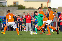 Aaron Connolly (At age 15) of Republic of Ireland U15 in action against the Netherlands.<br /> <br /> Republic of Ireland v Netherlands, U15 International Friendly,14/4/15, Pearse Stadium, Janesboro FC, Limerick.