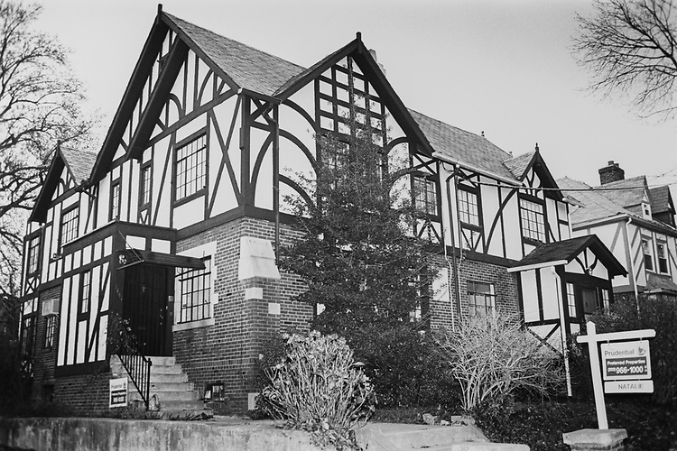 A Shakespeare house for sale in silver spring at Maryland Real Estate, on Nov. 30, 1992. (Photo by Laura Patterson/CQ Roll Call via Getty Images)