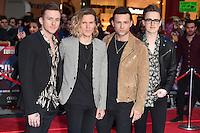 McFly<br /> arrives for the European premiere of &quot;Captain America: Civil War&quot; at Westfield, Shepherds Bush, London<br /> <br /> <br /> &copy;Ash Knotek  D3111 26/04/2016