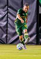 13th July 2020, Orlando, Florida, USA;  Portland Timbers midfielder Sebastian Blanco (10) passes the ball during the MLS Is Back Tournament between the LA Galaxy versus Portland Timbers on July 13, 2020 at the ESPN Wide World of Sports, Orlando FL.