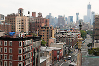 New York, NY -  6 Oct 2012 Looking south down Sixth Avenue towards the World Trade Center