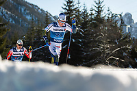1st January 2020, Toblach, South Tyrol , Italy;  Bjorn Sandstrom of Sweden competes in the mens 15 km classic technique pursuit during Tour de Ski on January 1, 2020 in Toblach.