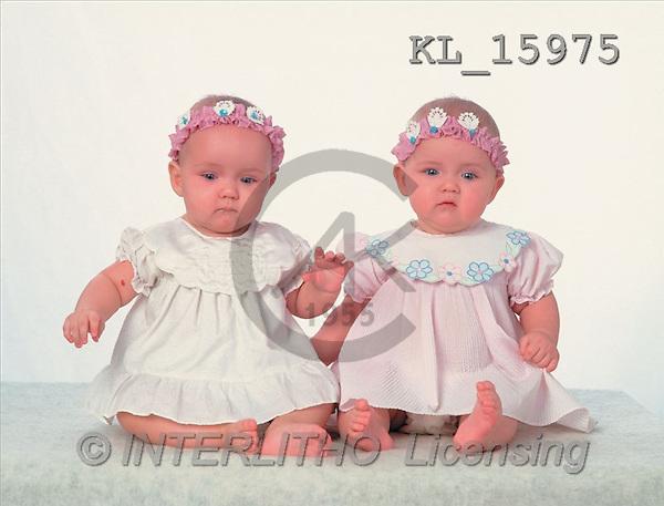 Interlitho, CHILDREN, photos, 2 babygirls(KL15975,#K#) Kinder, niños