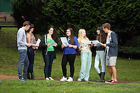 Pictured L-R: Students Jake Lomas, Katie Watkins, Holly Dickens, Kia Warlow, Celia Crees, Freya Koutsoubelis and Ben Francis.<br />