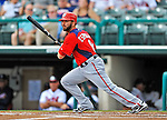 6 March 2012: Washington Nationals infielder Danny Espinosa in action during a Spring Training game against the Atlanta Braves at Champion Park in Disney's Wide World of Sports Complex, Orlando, Florida. The Nationals defeated the Braves 5-2 in Grapefruit League action. Mandatory Credit: Ed Wolfstein Photo
