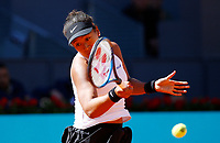 Naomi Osaka of Japan in her match against Dominika Cibulkova of Slovakia during day three of the Mutua Madrid Open at La Caja Magica on May 05, 2019 in Madrid, Spain. /NortePhoto.com