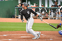 Luis Castro (12) of the Grand Junction Rockies at bat against the Ogden Raptors during Opening Night of the Pioneer League Season on June 16, 2014 at Lindquist Field in Ogden, Utah. (Stephen Smith/Four Seam Images)