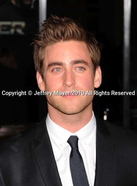 """HOLLYWOOD, CA. - November 22: Oliver Jackson-Cohen arrives at the """"Faster"""" Los Angeles Premiere at Grauman's Chinese Theatre on November 22, 2010 in Hollywood, California."""
