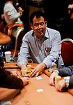 "Friend of PokerStars.net Bill Chen is happy with the flop but then gets beaten on the river.  He then ships his stack over to Men ""The Master"" Nguyen."
